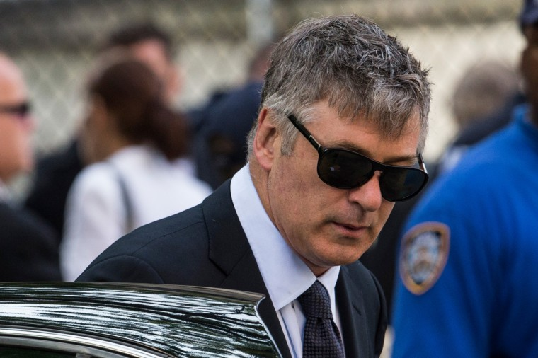Actor Alec Baldwin arrives for actor James Gandolfini's funeral at The Cathedral Church of St. John the Divine on June 27, 2013 in New York City. Gandolfini passed away on June 19, 2013 while vacationing in Rome, Italy. (Andrew Burton/Getty Images)