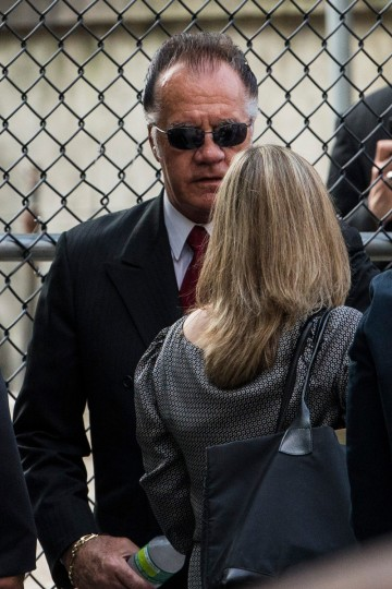 Actor Tony Sirico arrives for actor James Gandolfini's funeral at The Cathedral Church of St. John the Divine. (Andrew Burton/Getty Images)