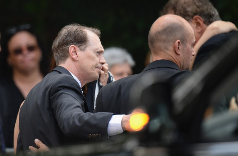 Actor Steve Buscemi attends the funeral for actor James Gandolfini at The Cathedral Church of St. John the Divine in New York City. (Mike Coppola/Getty Images)