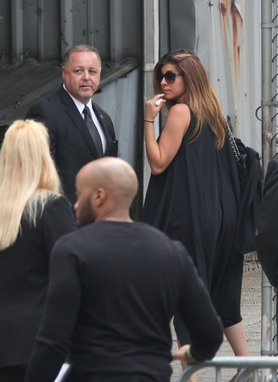 Jamie Lynn-Sigler attends the funeral of actor James Gandolfini at The Cathedral Church of St. John the Divine on June 27, 2013 in New York City. Gandolfini passed away on June 19, 2013 while vacationing in Rome, Italy. (Rob Kim/Getty Images)