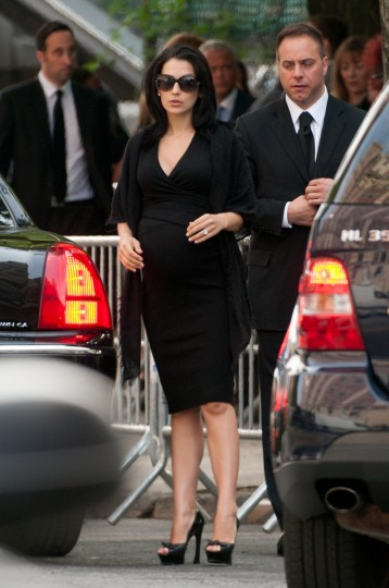 Hilaria Baldwin attends the funeral for actor James Gandolfini at The Cathedral Church of St. John the Divine in New York City. Gandolfini passed away on June 19, 2013 while vacationing in Rome, Italy. (D Dipasupil/Getty Images)