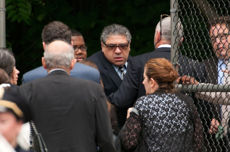 Actor Vincent Pastore attends the funeral for actor James Gandolfini at The Cathedral Church of St. John the Divine on June 27, 2013 in New York City. (D Dipasupil/Getty Images)