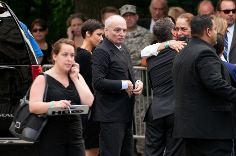 David Chase (C) attends the funeral for actor James Gandolfini at The Cathedral Church of St. John the Divine on June 27, 2013 in New York City. (D Dipasupil/Getty Images)