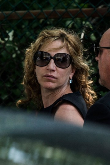 Actor Edie Falco leaves after attending the funeral for Actor James Gandolfini at The Cathedral Church of St. John the Divine on June 27, 2013 in New York City. (Andrew Burton/Getty Images)