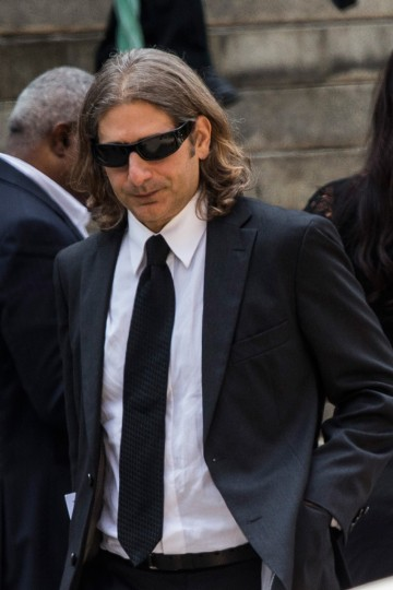 Actor Michael Imperioli leaves after attending the funeral for Actor James Gandolfini at The Cathedral Church of St. John the Divine on June 27, 2013 in New York City. (Andrew Burton/Getty Images)