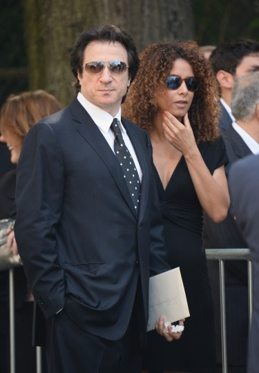 Actor Federico Castelluccio (L) attends the funeral for Actor James Gandolfini at The Cathedral Church of St. John the Divine on June 27, 2013 in New York City. (Mike Coppola/Getty Images)