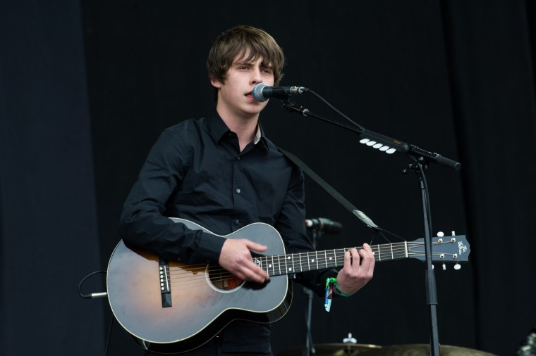Jake Bugg performs live on the Pyramid Stage at day 2 of the 2013 Glastonbury Festival at Worthy Farm on June 28, 2013 in Glastonbury, England. (Ian Gavan/Getty Images)