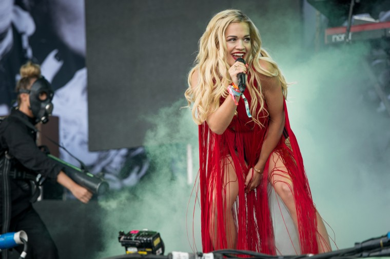 Rita Ora performs live on the Pyramid Stage at day 2 of the 2013 Glastonbury Festival at Worthy Farm on June 28, 2013 in Glastonbury, England. (Ian Gavan/Getty Images)