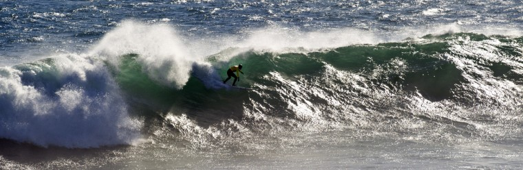 Brazil Joao de Macedo surfs a wave during the Chile's Big Waves event at Punta Lobos beach in Pichilemu, about 300 km south of Santiago, Chile. (Martin Bernetti/Getty Images)