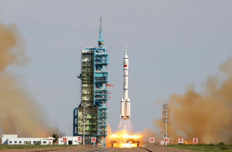 China's Shenzhou-10 rocket blasts off from the Jiuquan space centre in the Gobi Desert in Jiuquan, northwest China's Gansu. China began its longest manned space mission yet on June 11 with the launch of the Shenzhou-10, state television showed, as the country steps up an ambitious exploration programme symbolising its growing power. (Getty Images)