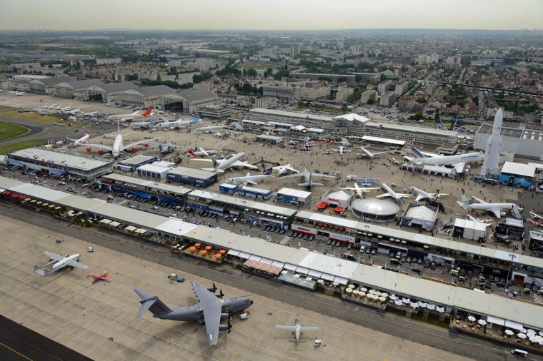 Aerial view of Le Bourget airport, near Paris taken on June 18, 2013 during the 50th International Paris Air show. (Eric Feferberg/Getty Images)