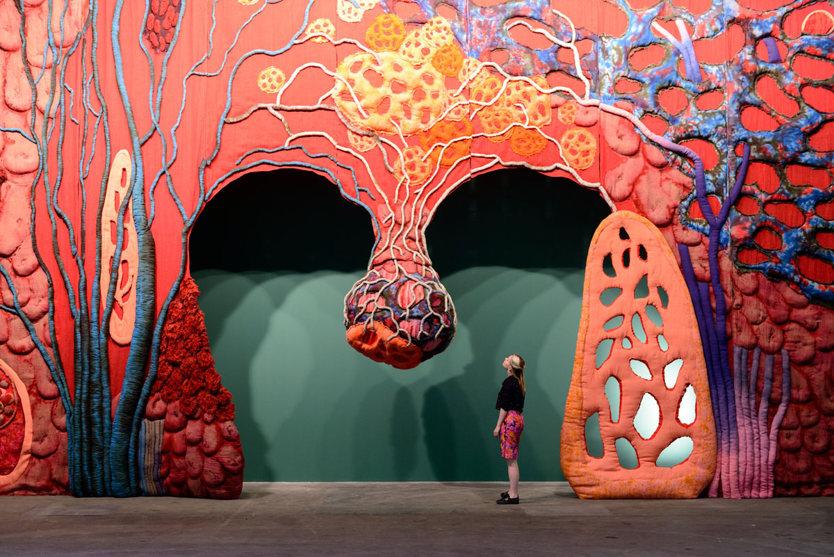 Preview Art Basel 2013 with a giant uvula, dangling horses, a rainbow of faces and more