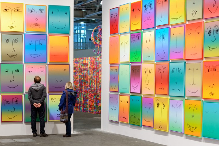 Works by Rob Pruitt, 2013, presented by Gavin Brown's enterprise, New York at Unlimited, Art Basel are displayed on June 10, 2013 in Basel, Switzerland. (Rob Pruitt/Getty Images)