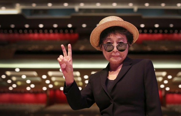Yoko Ono launches The Meltdown Festival at the Royal Festival Hall on June 12, 2013 in London, England. The gestival which runs from June 14-23 will open with Yoko Ono Plastic Ono Band at the Southbank Centre. (Peter Macdiarmid/Getty Images)