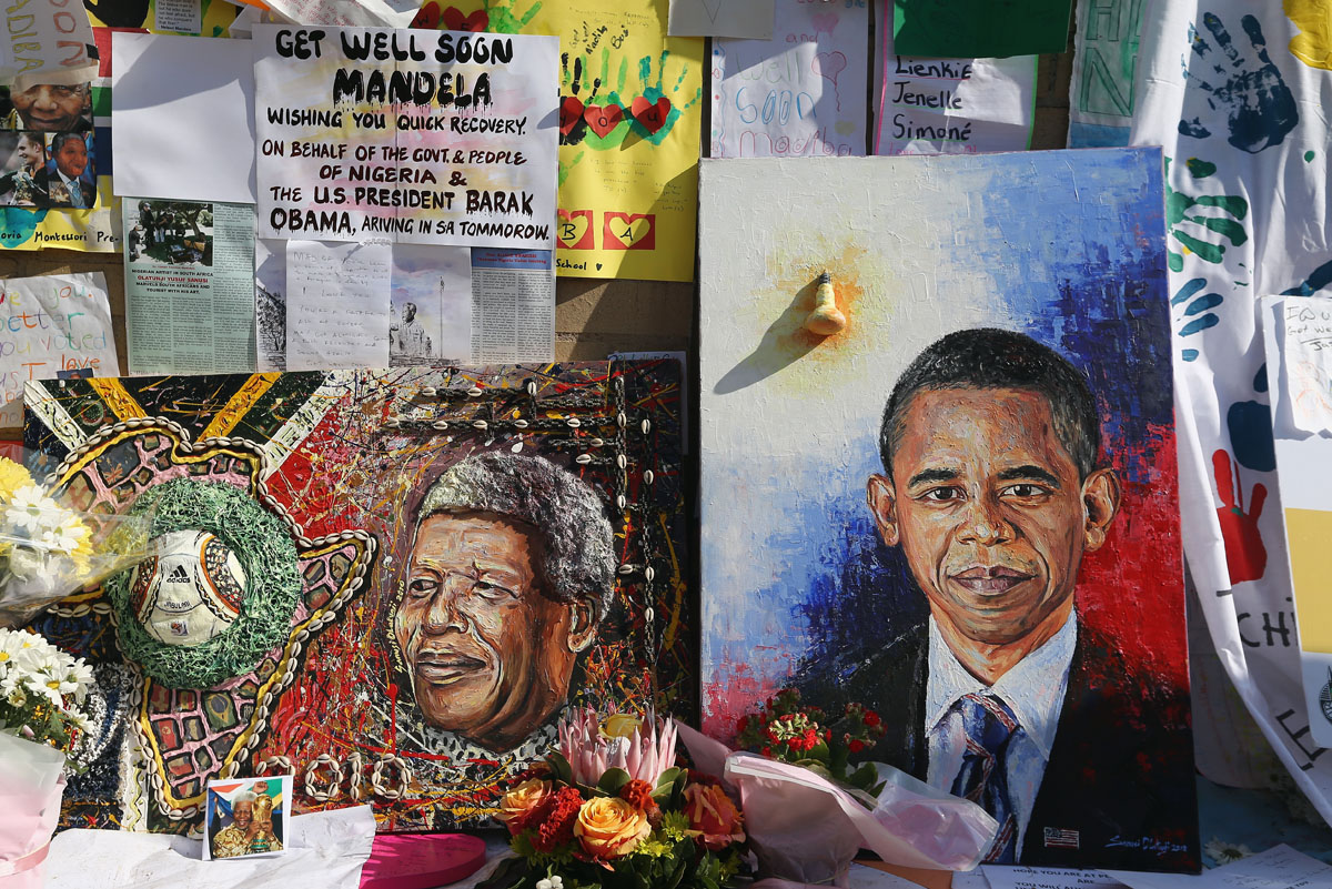 Mandela vigil continues as Obama meets with family
