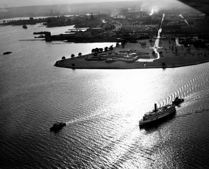 """Birthplace of the Star-Spangled Banner"" is a view of Fort McHenry. The photos go on exhibit today at the cameramen's annual show, in Galveston, TX, 1953. (Hans Marx/Baltimore Sun)"