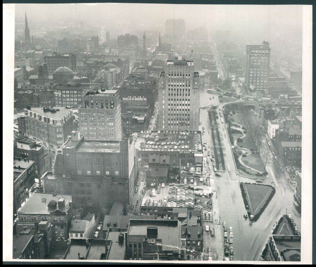 Downtown Baltimore is seen in 1952. (Baltimore Sun File Photo)
