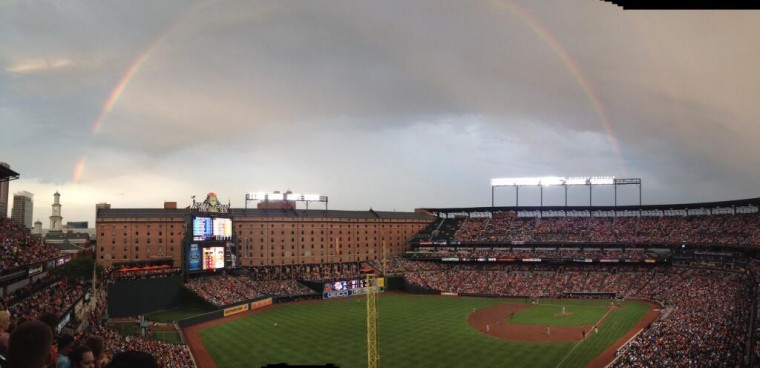 Panorama shot taken by Jessica M. at Camden Yards, Fri., June 28, 2013. (Submitted by @downtowndiane)