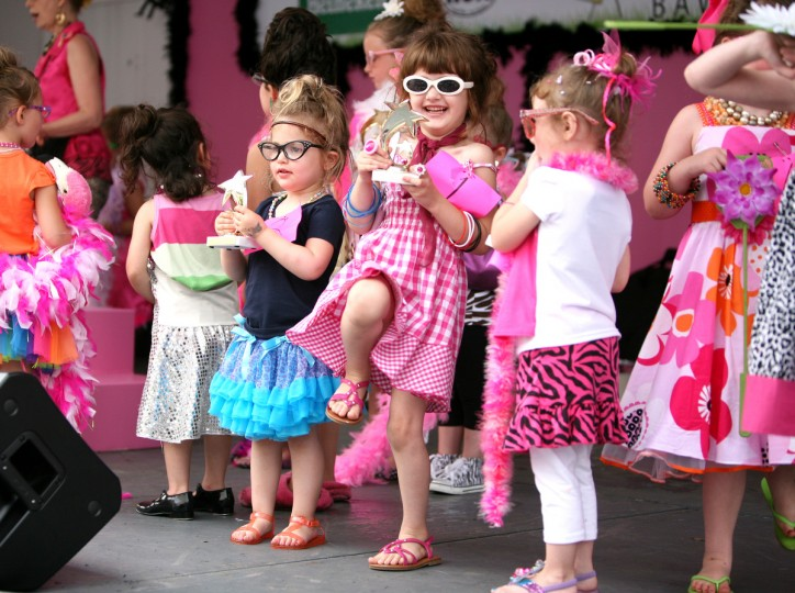 Madalen Boas was excited to receive her trophy in the Lil' Miss Hon Contest at Honfest 2011. (Joe Soriero/Baltimore Sun)