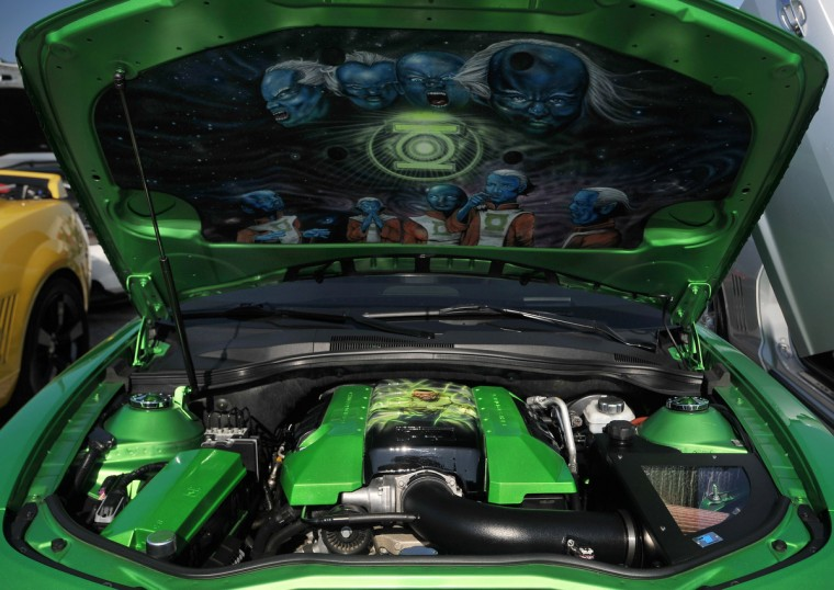 A mural graces the under side of the hood on this late model Chevrolet Camero. (Gene Sweeney Jr./Baltimore Sun)