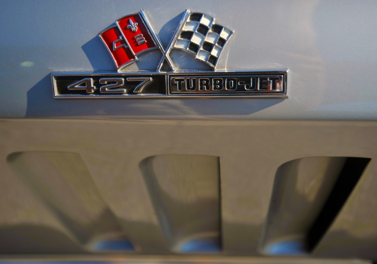 "The ""Holy-Grail"" of Corvette badges in 1966 signifies what type of engine was in this car; and they didn't get bigger then a 427 cubic inch power plant. (Gene Sweeney Jr./Baltimore Sun)"