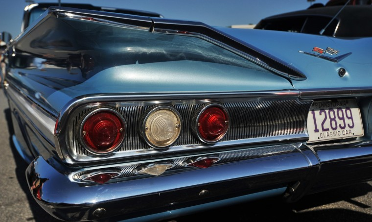 """Fins"" were the big features on cars in the late 50's and early 60's and this 1960 Chevrolet is a perfect example of their glory. (Gene Sweeney Jr./Baltimore Sun)"