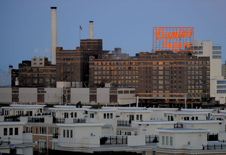 A view of the Domino Sugar refinery at dusk. (Karl Merton Ferron/Baltimore Sun Photo)
