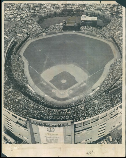 Memorial Stadium photographed from above during the World Series in 1966. (Baltimore Sun File Photo)