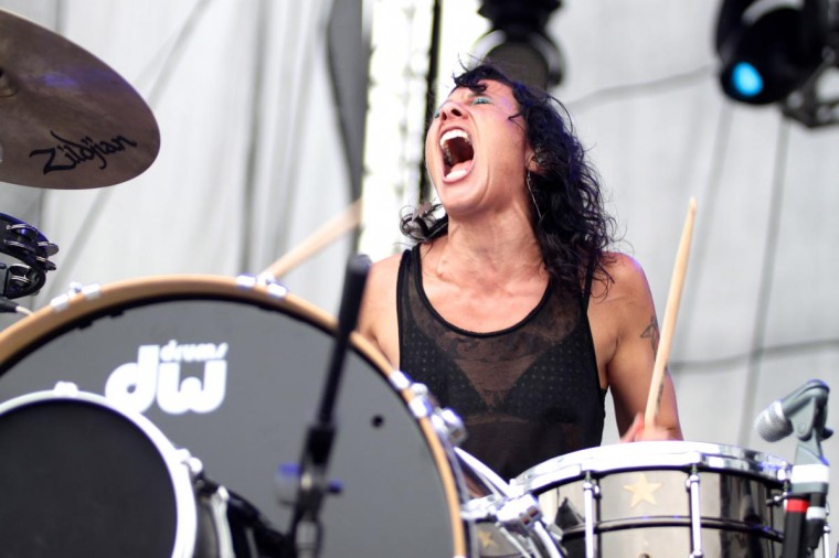 Matt and Kim performed June 23, 2013 at the Firefly Music Festival in Dover, Delaware. (Credit: Kaitlin Newman for The Baltimore Sun)