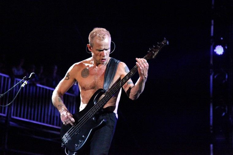Flea of the Red Hot Chili Peppers performed June 21, 2013 at the Firefly Music Festival in Dover, Delaware. (Credit: Kaitlin Newman for The Baltimore Sun)