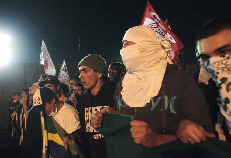Demonstrators yell anti-government slogans during one of the many protests around Brazil's major cities in Sao Paulo June 17, 2013. (Alex Almeida/Reuters)