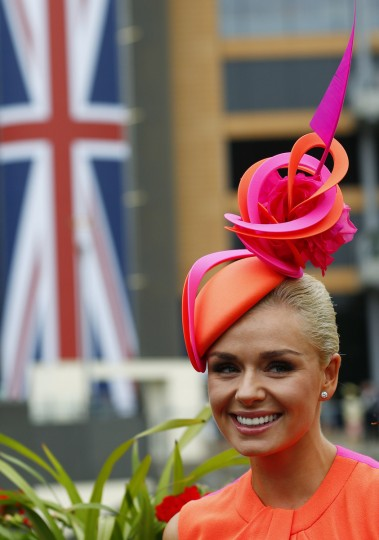 British singer Katherine Jenkins attends the first day of the Royal Ascot horse racing festival at Ascot, southern England. (Darren Staples/Reuters photo)