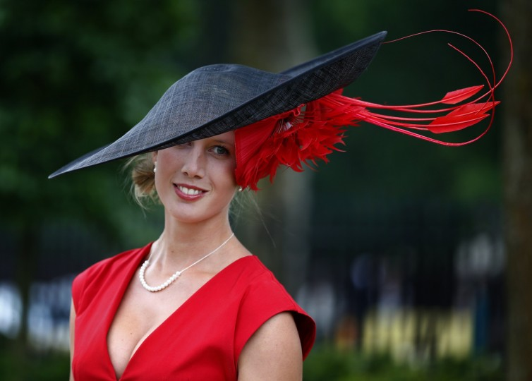 Racegoer Louise Black arrives for Ladies' Day at the Royal Ascot horse racing festival at Ascot, southern England. (Darren Staples/Reuters photo)