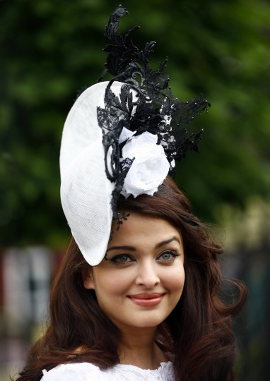 Bollywood actress Aishwarya Rai attends the first day of the Royal Ascot horse racing festival at Ascot, southern England. (Darren Staples/Reuters photo