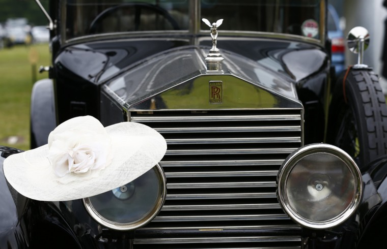 A ladies hat sits on a vintage Rolls Royce on the second day of the Royal Ascot horseracing festival at Ascot, southern England. (Darren Staples/Reuters photo)