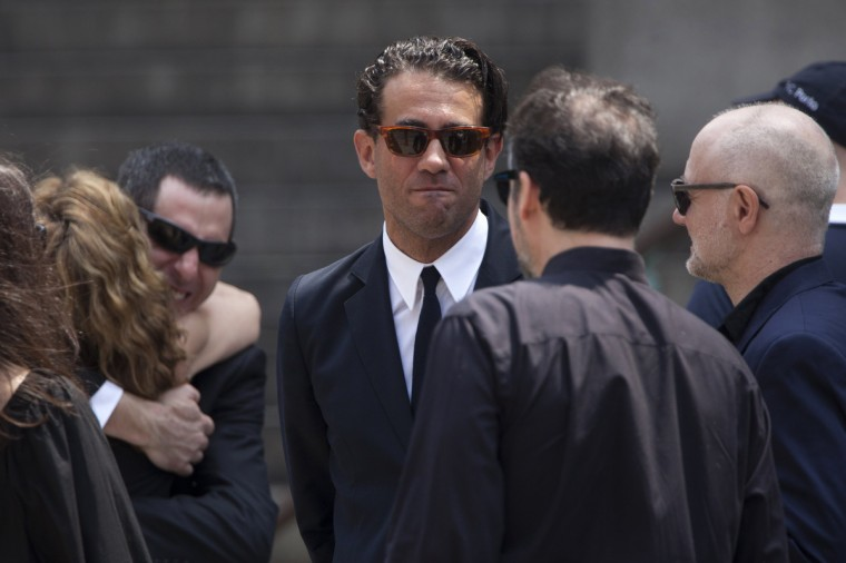 Actor Bobby Cannavale is photographed outside the Cathedral Church of Saint John the Divine after taking part in the funeral service for actor James Gandolfini in New York on June 27, 2013. (Carlo Allegri/Reuters)
