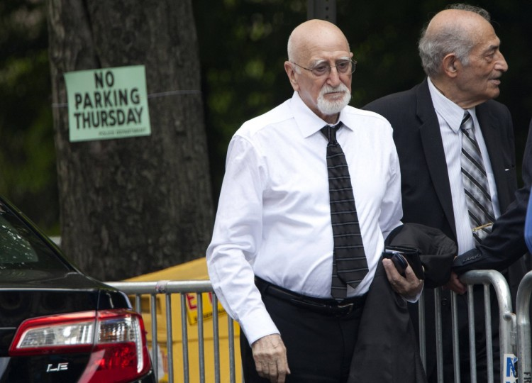 Actor Dominic Chianese arrives at the Cathedral Church of St. John The Divine for the funeral of actor James Gandolfini. (Carlo Allegri/Reuters)