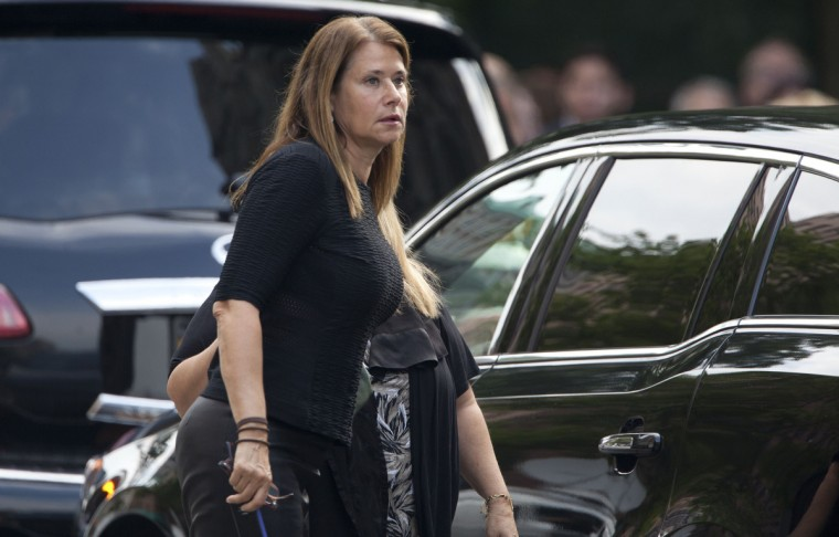 Actress Lorraine Bracco arrives at the Cathedral Church of St. John The Divine for the funeral of actor James Gandolfini. (Carlo Allegri/Reuters)