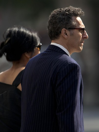 Actor John Turturro arrives at the Cathedral Church of St. John The Divine for the funeral of actor James Gandolfini. (Carlo Allegri/Reuters)