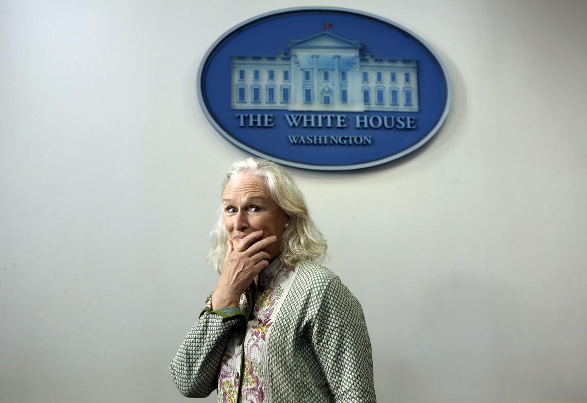 June 3 Photo Brief: Siamese twin girls, Glenn Close at the White House, flooding in Europe