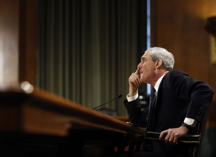 FBI Director Robert Mueller listens to question at the U.S. Senate Judiciary Committee at an oversight hearing about the Federal Bureau of Investigation on Capitol Hill in Washington. (Larry Downing/Reuters photo)