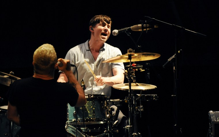 Say Anything called in a substitute drummer, Reed Murray, of the band Tallhart, for this tour after parting ways with longtime drummer Coby Linder. (Jon Sham/BSMG)