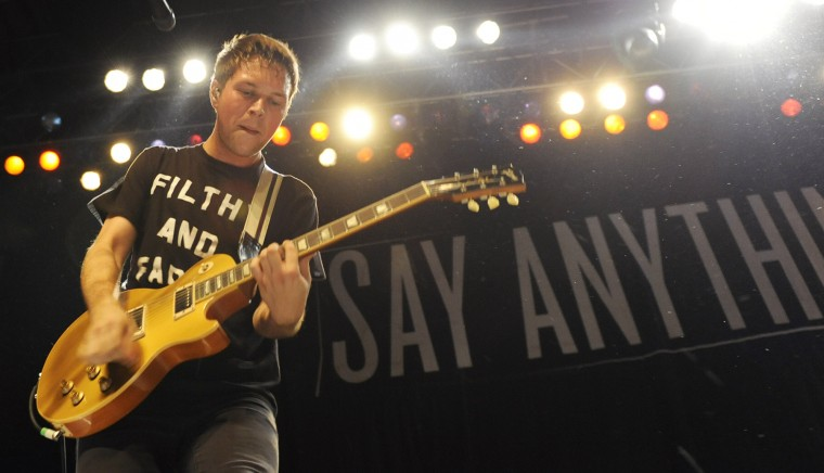 Jake Turner plays a chord during the Say Anything show at Rams Head Sunday. (Jon Sham/BSMG)