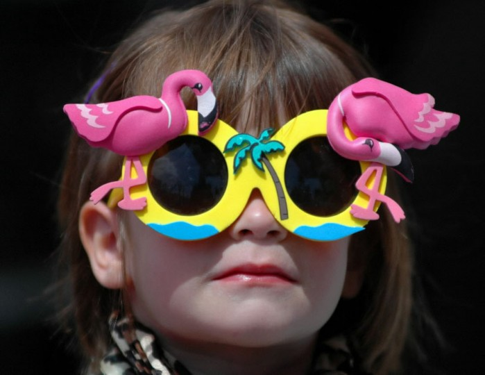 Julie Rose, 4, waits her turn to go up on the stage to enter Best 'Lil Hon Contest. HonFest 2006 took place in Hampden along 36th street with food and music and lots of beehive hairdos and leopard-print accessories. (Chiaki Kawajiri/Baltimore Sun)