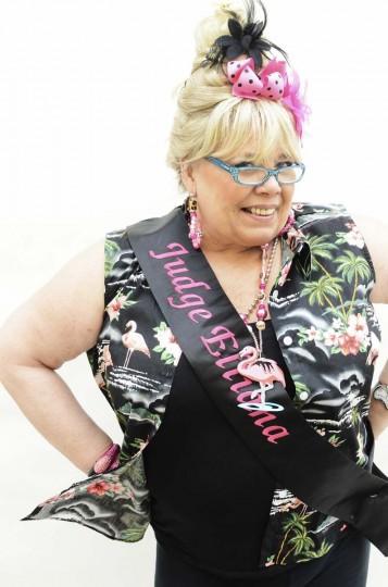 Honfest — June 8, 2013: Elliana Fetsko, 60, of Little Italy, prepares to judge contestants at Honfest. (J.M. Giordano for The Baltimore Sun)