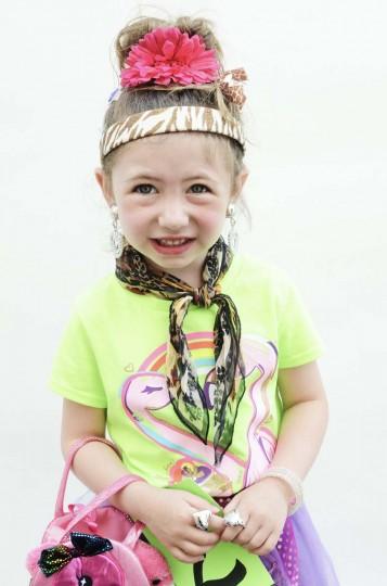 Honfest — June 8, 2013: Mini hon Sydney Sharp, 4, of Medfield, cracks a nervous smile before she gets on stage at Honfest. (J.M. Giordano for The Baltimore Sun)