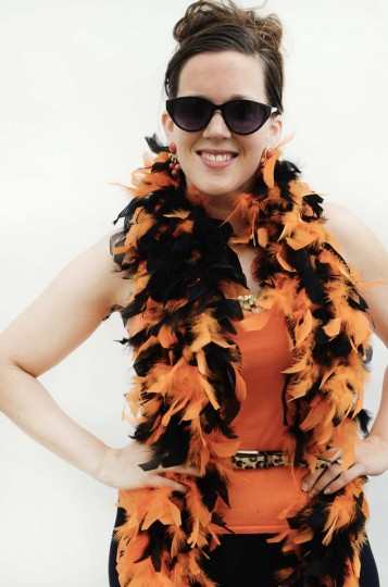 "Honfest — June 8, 2013: Hope Meisinger, 29, of Lutherville, puts the ""O"" in hon with her Baltimore Orioles inspired outfit. (J.M. Giordano for The Baltimore Sun)"