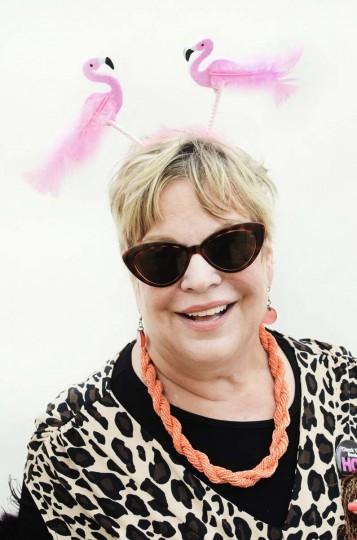 Honfest — June 8, 2013: Donna Harris, 64, of Woodbridge Va., lets her flamingos go at Honfest. (J.M. Giordano for The Baltimore Sun)