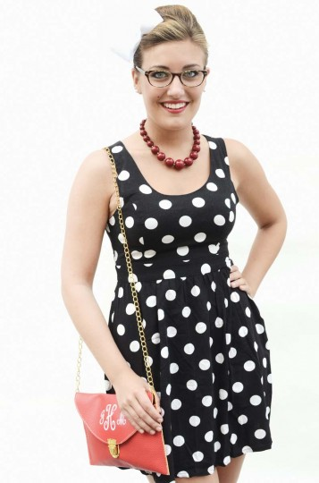 Honfest — June 8, 2013: Jenna Marie Hill, 20, of Columbia, broke out the polka dots for Honfest. (J.M. Giordano for The Baltimore Sun)