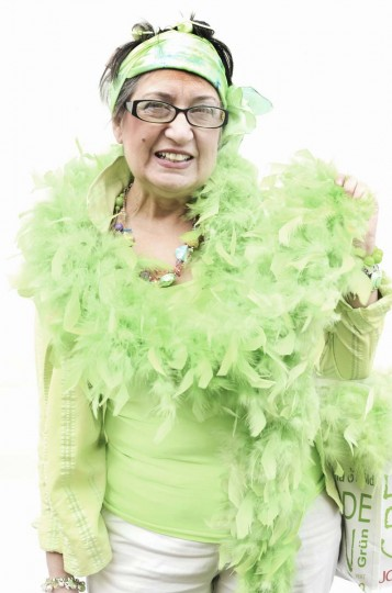 "Honfest — June 8, 2013: Linda ""kratz"" Foote, 61 of Medfield, looked a little green at Honfest. (J.M. Giordano for The Baltimore Sun)"